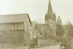 evangeliche Kirche vom Friedhofsweg 1952