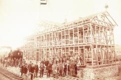 Rohbau Kleinbahnhof 1900