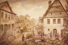 Zeichnung Altes Rathaus-Zeichnung um 1840